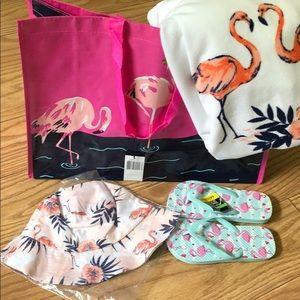 Flamingo beach set